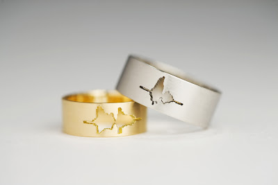 I Do Wedding Band in Palladium and 18K Yellow Gold