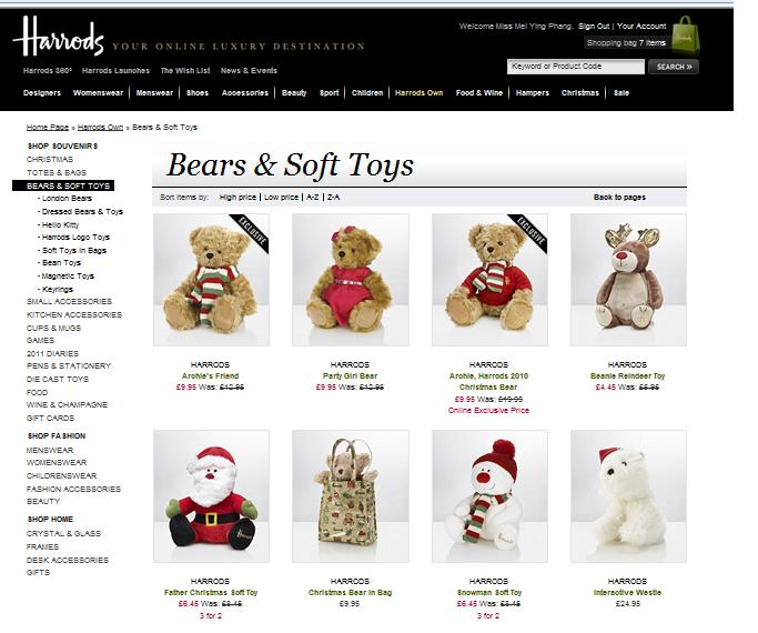 Online Shopping Temptation  SHOPPING AT HARRODS 6074ceeb8a3