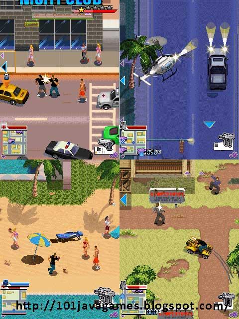 Java Games: Gangstar 3 Miami vindication mobile game