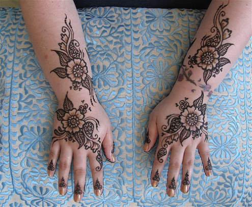 Design Henna  Inai  Untuk Jari dan Kaki Pengantin  eFBez