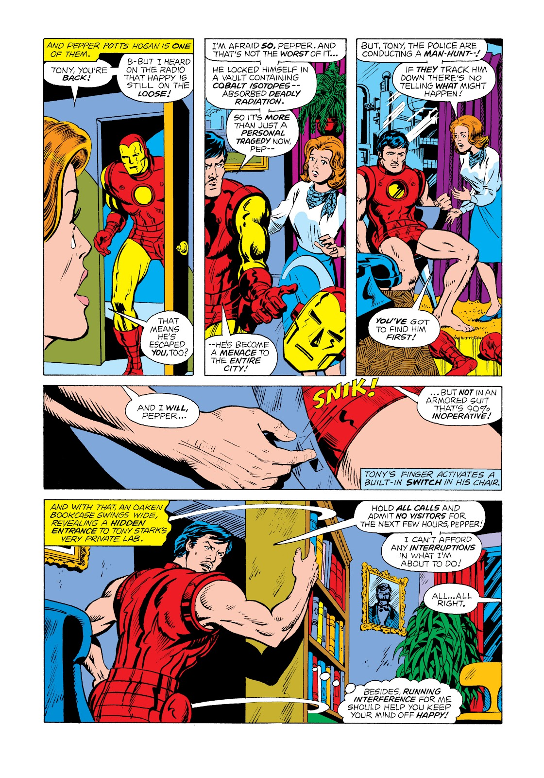 Read online Marvel Masterworks: The Invincible Iron Man comic -  Issue # TPB 11 (Part 1) - 70