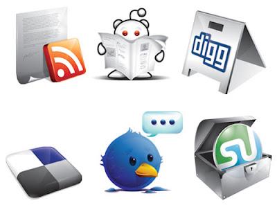 Awesome social bookmarking set 75 Beautiful Free Social Bookmarking Icon Sets