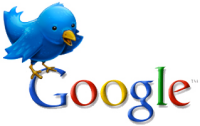 google and twitter logos together