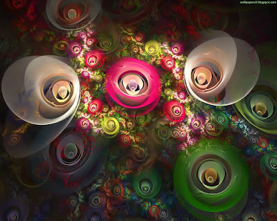 3D Flowers Standard Resolution Wallpaper 1