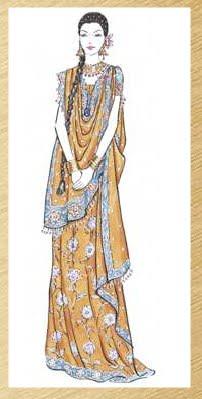 saree draping styles from lakme