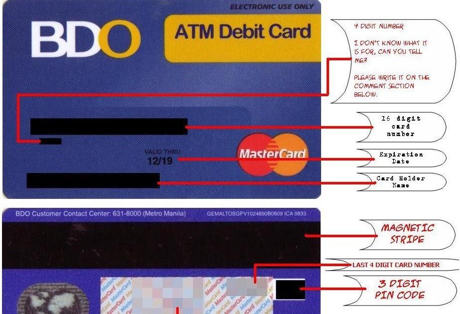all about internet banking bdo atm debit card anatomy