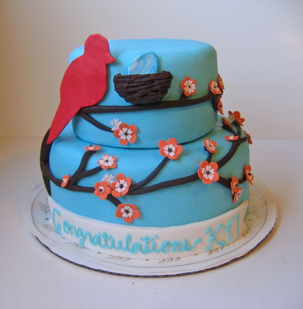 Cake or Death?: Lemon and Raspberry Bird Cake