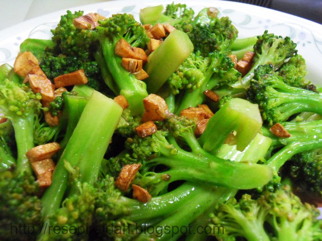 Resepi raidah brokoli goreng bawang putih ii