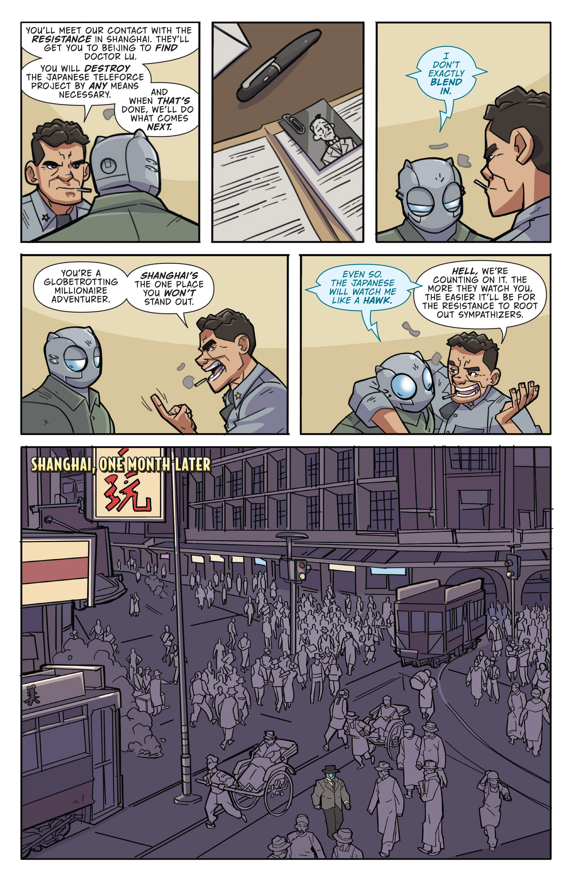 Read online Atomic Robo and the Temple of Od comic -  Issue #1 - 8