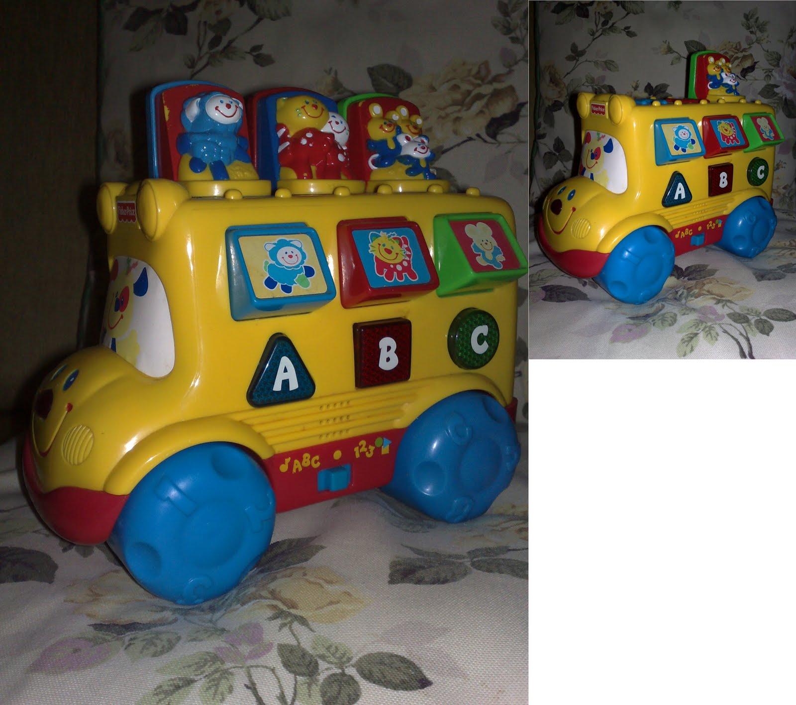 1999 Fisher Price Baby Smartronics Nursery Rhymes School ...  |Fisher Price Bus Nursery Rhymes