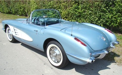 1950 to 1959 classic chevrolet cars and trucks 1959 chevrolet corvette for sale in florida. Black Bedroom Furniture Sets. Home Design Ideas