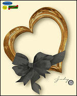 Link to Heart and Ribbon Frame