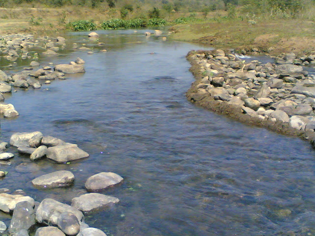 Clean Water in a Small River at Araku