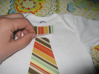 Appliqued Tie Onesie Tutorial