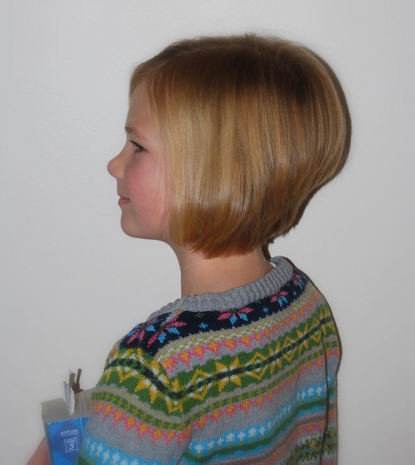 Kids Bob Haircut Stacked In Back