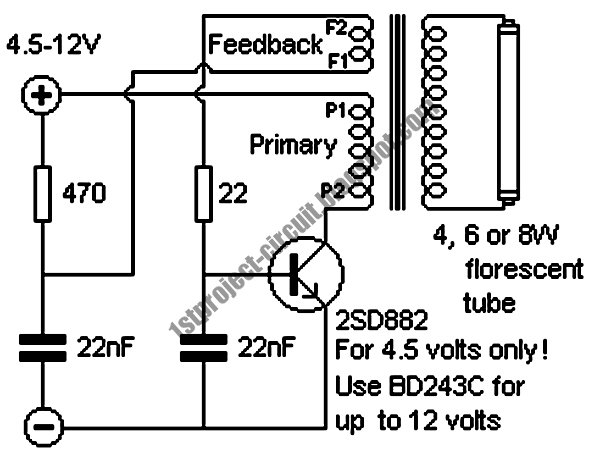 inverter circuit for florescent lamps
