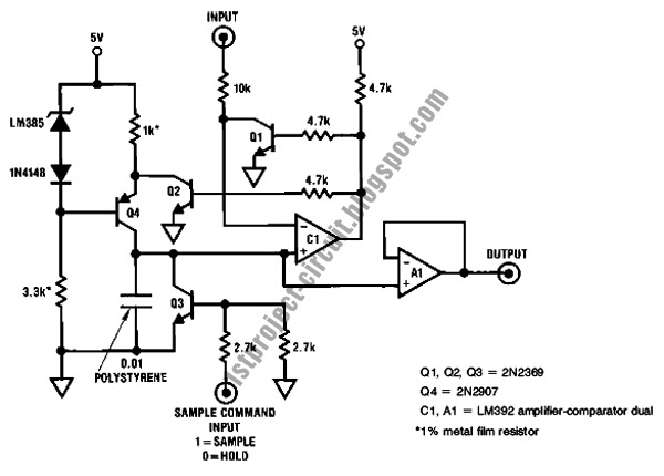Project Circuit Design: Sample Hold Circuit Using Op Amp