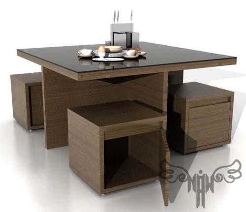 meko dining table set   nur alam witono Modern Dining Table Designs Danish Designers Dining Table
