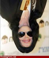 Michael Jackson face+upside down