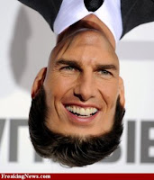 Tom Cruise+funny+face+up+side+down