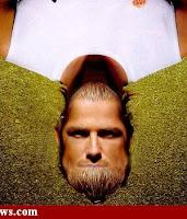 David Beckham face+upside down