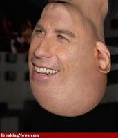 John Travolta face+upside down