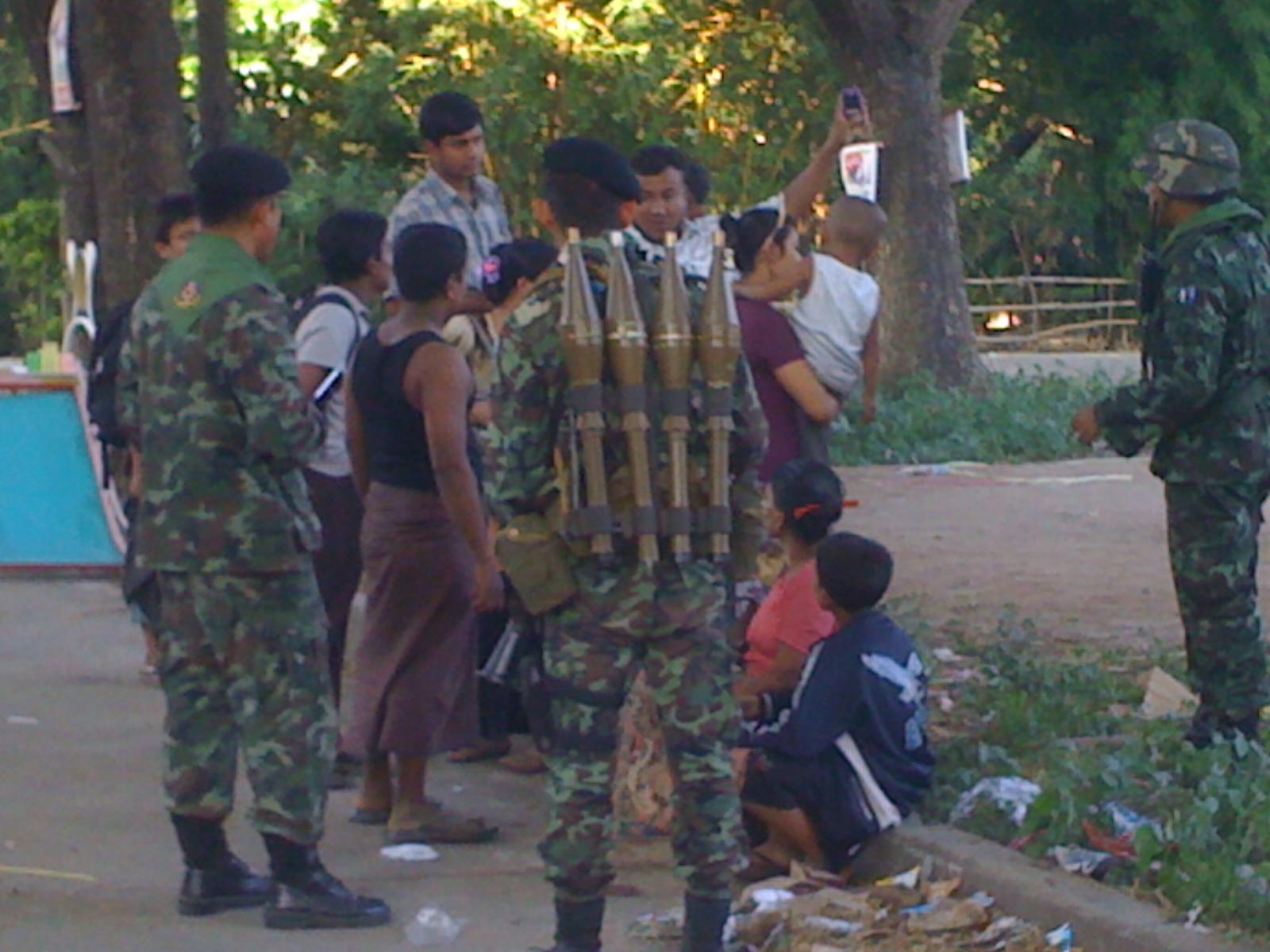 Thailand besok uppror militarer