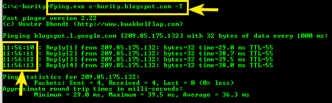 Ping with timestamp - UNIX and Linux Forums