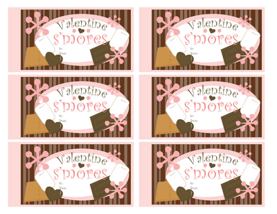 10 Days of Valentine - Day 4: S'more Gift Labels!