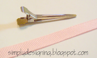 line+clip+01 Hair Flower Week - How to Line an Alligator Clip and a WINNER! 14