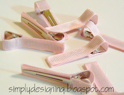 line+clip+05 Hair Flower Week - How to Line an Alligator Clip and a WINNER! 13