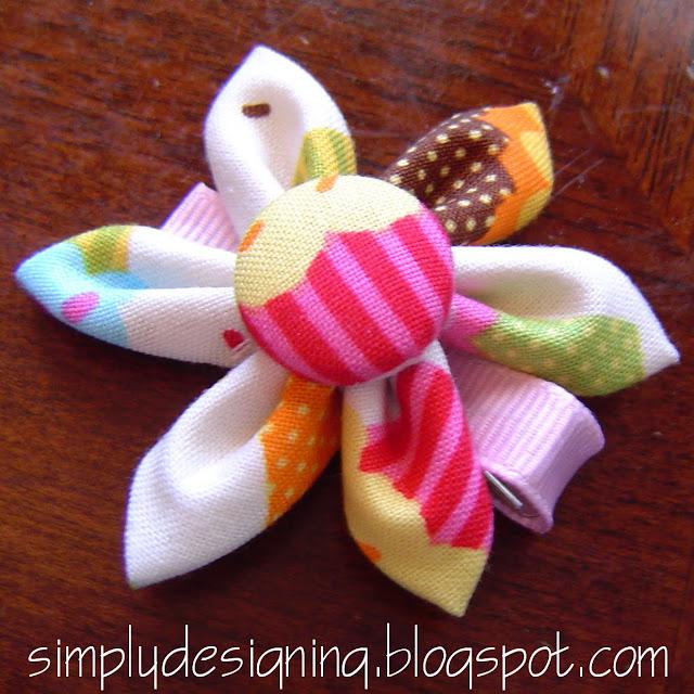 10+folded+flower Folded Hair Flower Tutorial 23
