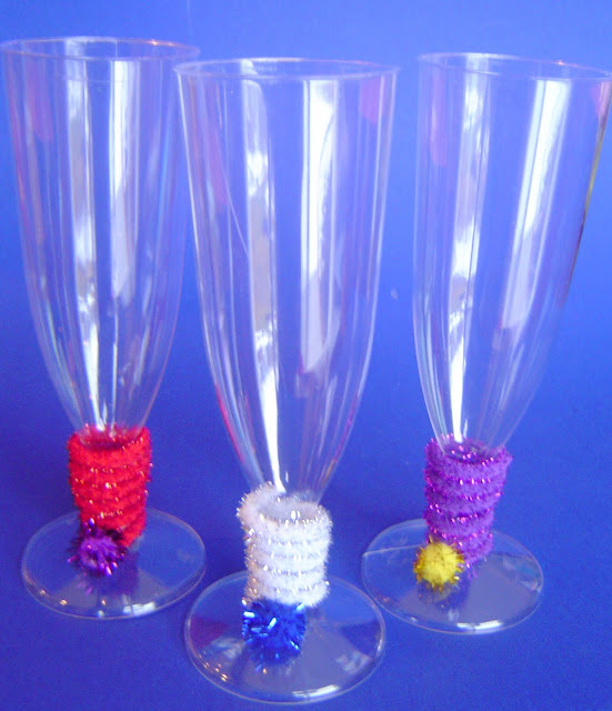 New Year's Fancy Flutes & Champagne Glasses