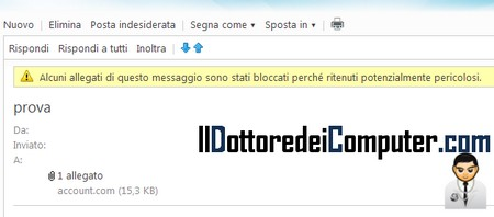 allegati bloccati hotmail