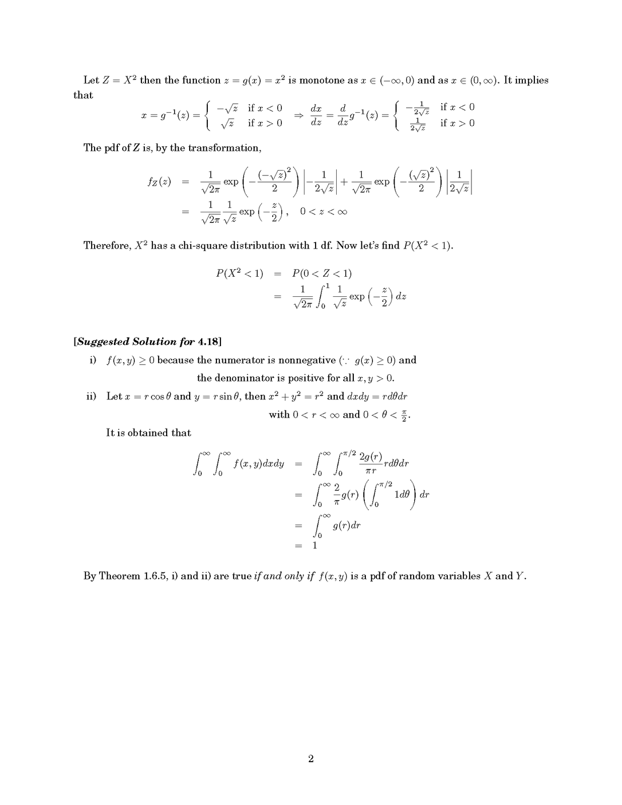 [Statistical Inference - 2nd Edition by Casella and Berger] A suggested  solution for E.4.14 & 4.18
