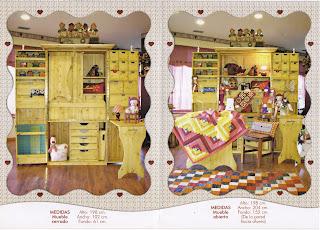 Mari y viges entre bastidores mueble de costura for Mueble organizador de costura