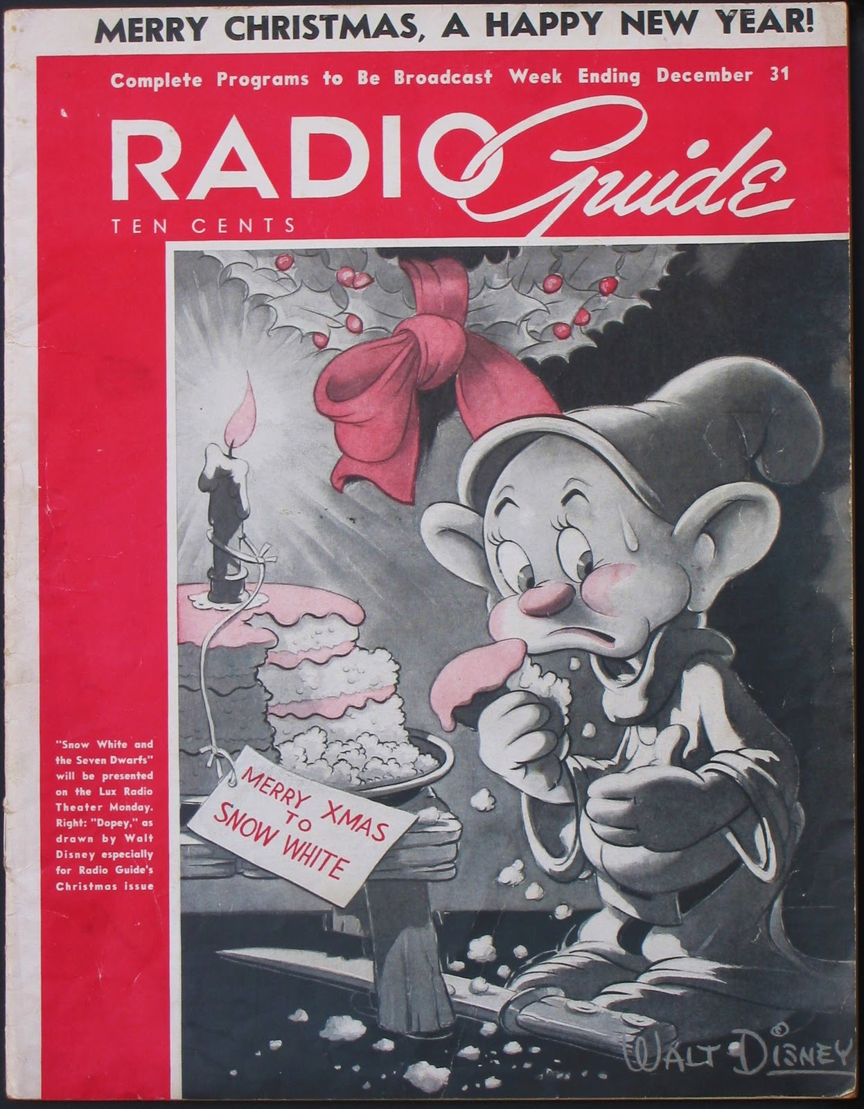 It featured Dopey on the cover and promoted the Monday airing of the Lux  Theatre show: Radio Guide ...