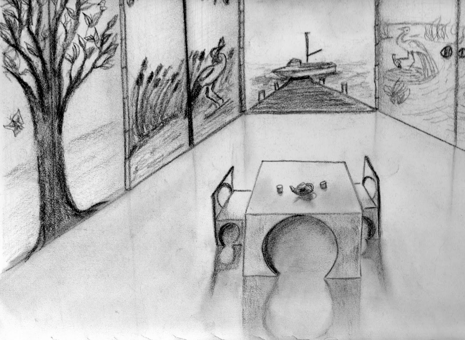 Art Student S Blog 2 Dimensional Design Line Drawings Shape