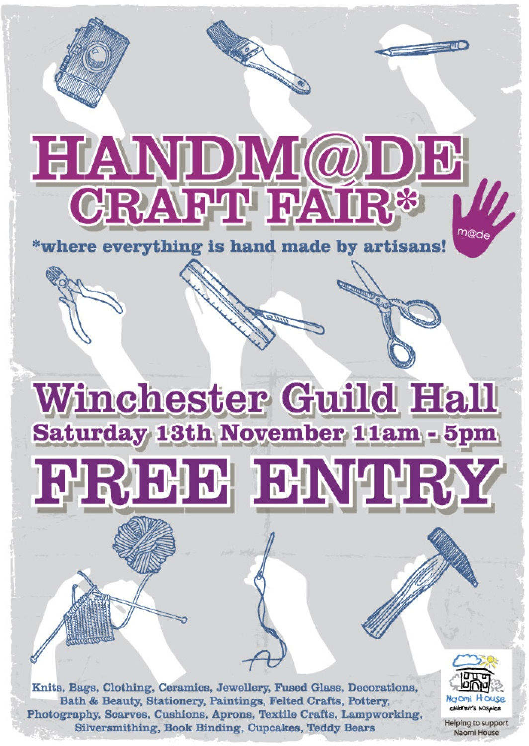 come to Winchester Guild Hall 13th November