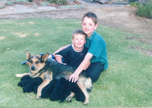 Daniel and Matthew in puppy heaven 2001