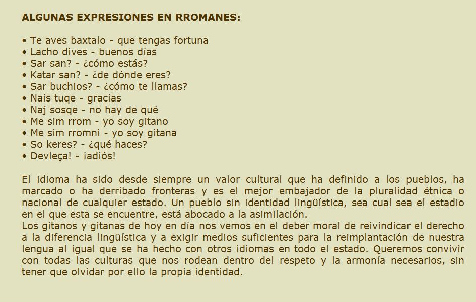 El Cuaderno De Un Gitano Frases En Lengua Gitana