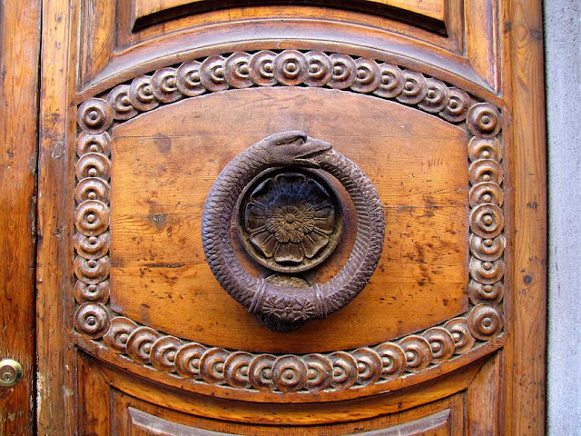 Ornate front door handle, Livorno