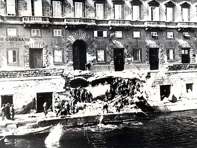 Palazzo dell'Aquila Nera, Black Eagle Palace, 28th May 1943 bomb, air raid, Livorno