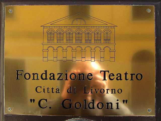 Around the Goldoni theater, Livorno