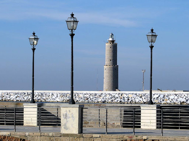 Lighthouse, seafront, Livorno