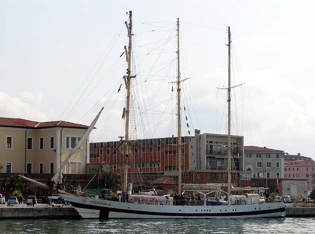 Pogoria training ship, Livorno