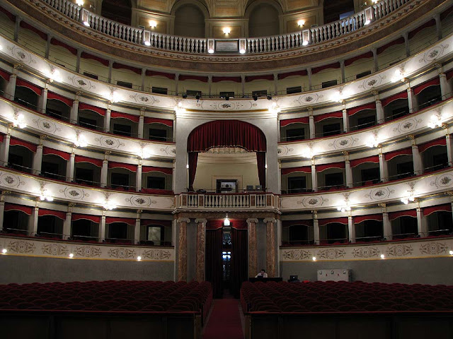 Inside the Goldoni Theater, Livorno
