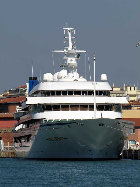 Prince Abdulaziz, Saudi Royal family yacht, port of Livorno