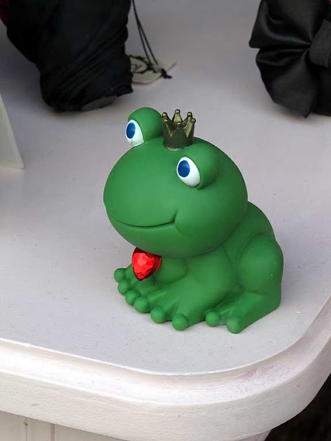 Princely toad waiting for a kiss