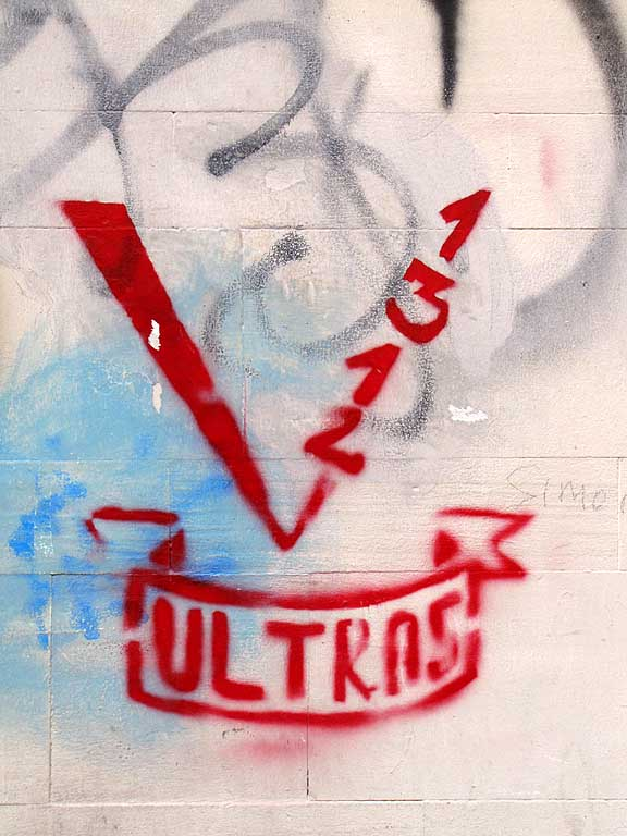 Ultras 1312, on a wall, Livorno